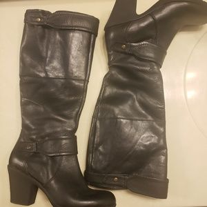 Easy Spirit Black leather tall boots size 8.5W